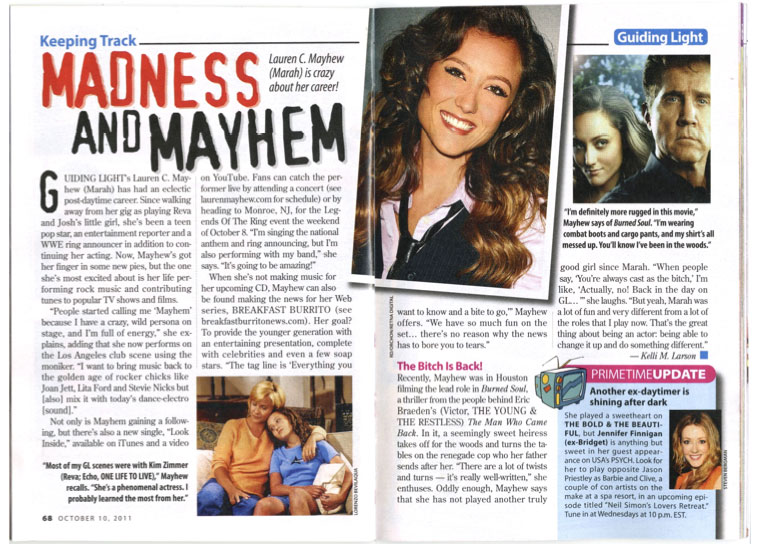 "CBS: SOAPS IN DEPTH"" FEATURE ARTICLE"