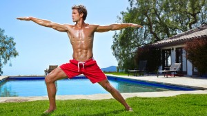 Todd-McCullough-Bro-Yoga-Shirtless-Red-Bathing-Suit-05132014-01