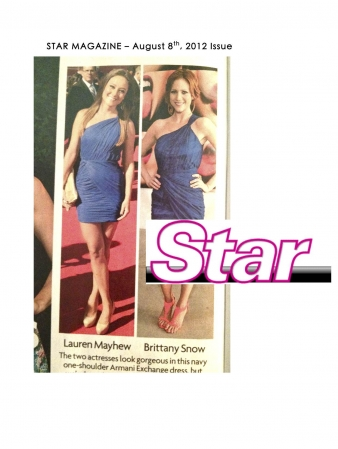 STAR MAGAZINE FASHION MENTION