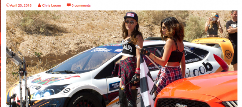 "Mayhew teams up with PRO Racers from NBC's ""Global Rally Cross"""