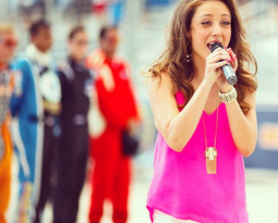 """Singing for NBC's """"Global Rallycross"""" this Saturday!"""